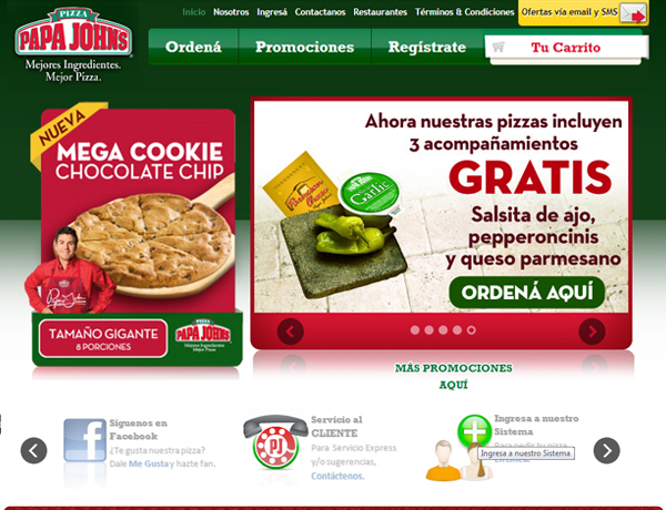 papa johns costa rica site