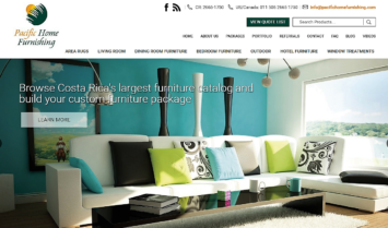 Our Latest Website Design: Pacific Home Furnishing