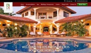 Our Latest Web Design: Los Altos De Eros Boutique Hotel & Spa
