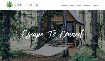 Our Latest Web Design: Pine Creek Escape